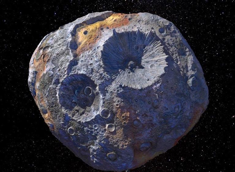 Asteroide banquero que  contiene riquezas casi infinitas
