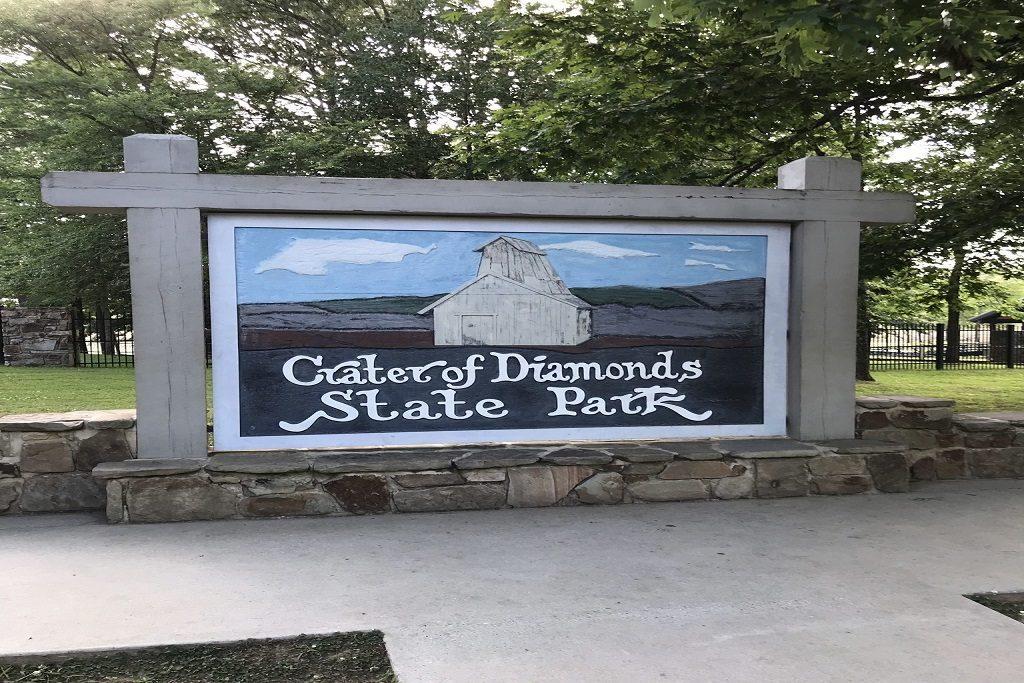 Diamantes en el Parque Estatal Crater of Diamonds