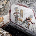 Realista fresco de gladiadores