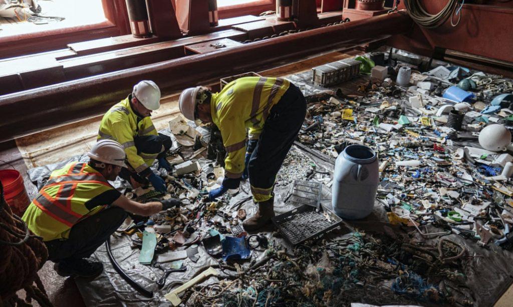 Recolector de plástico para residuos plásticos