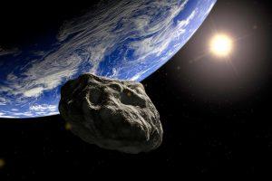 asteroide se aproxima