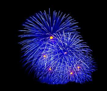 fuegos artificiales azules