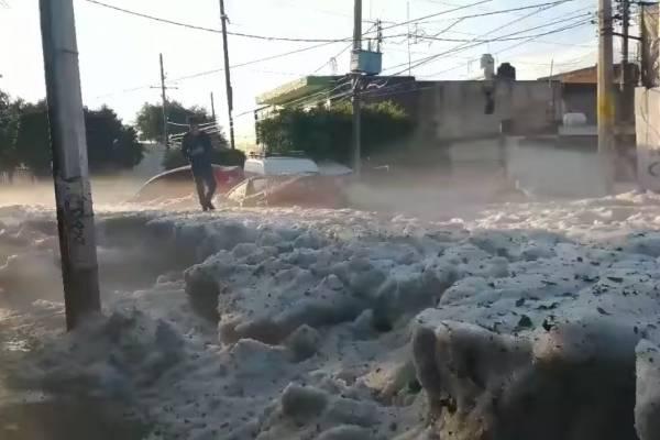 monstruosa granizada en Guadalajara