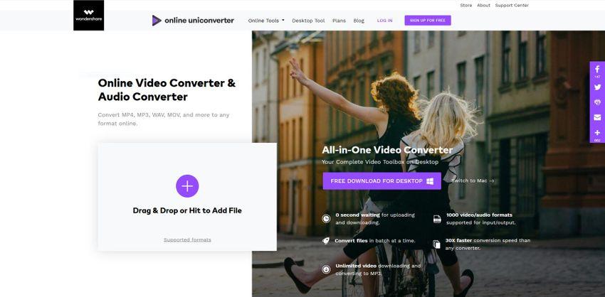 Wondershare UniConverter online media converter