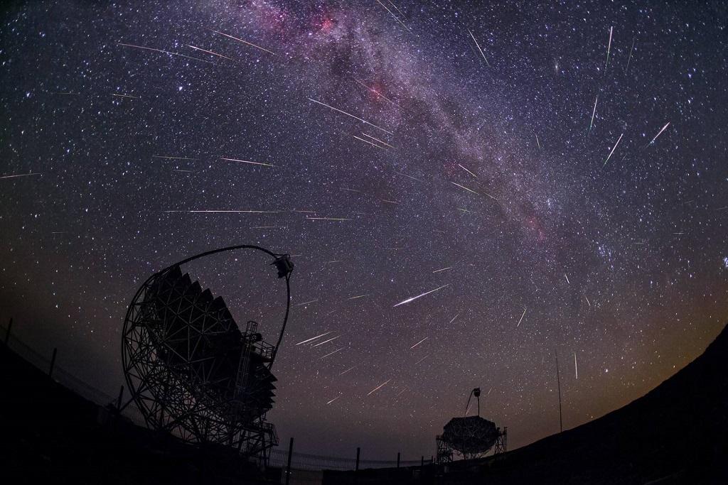 Telescopios que captaron el estallido