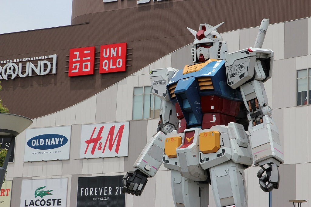 En Odaiba hay muchos centros comerciales relacionados con la tecnología