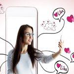 Chica en las redes sociales