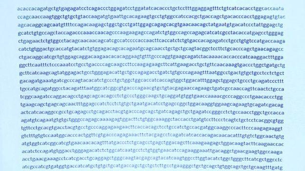 Segmento del código genético del coronavirus