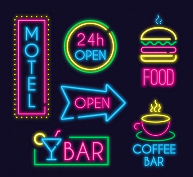 carteles fluorescentes