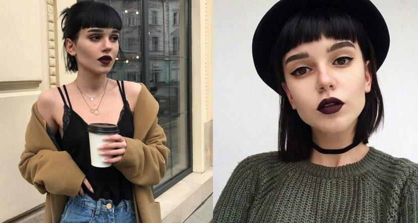 El Flequillo corto en la moda del cabello