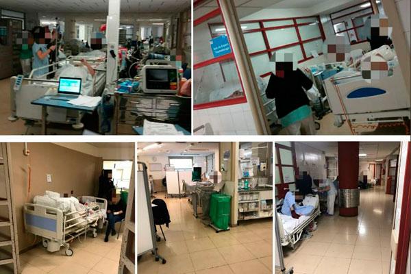 Posible colapso de hospitales públicos en Madrid