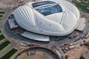 Vista aeria de el estadio de fútbol de Qatar