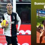Varias fotos de Cristiano Ronaldo, en una de ellas está sentado en el patio de su casa