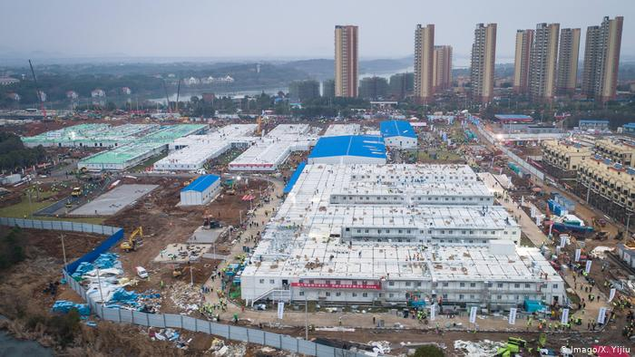 hospitales de quhan visto desde arriba