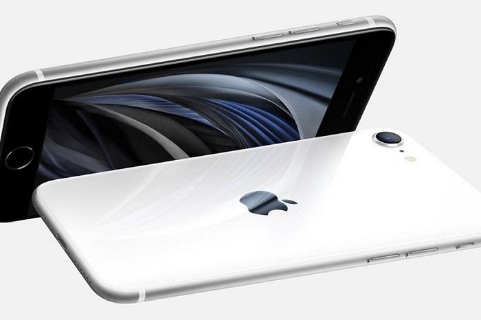 Dos IPhoneSE 2020 mostrasdo de perfiler diferntes