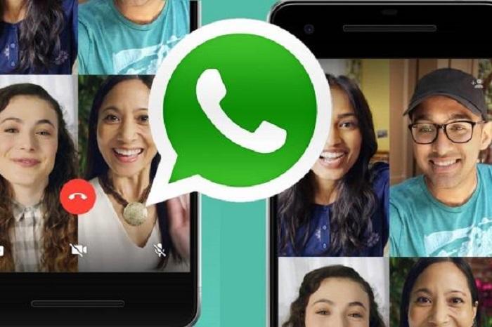 muestra de videollamadas grupales en WhatsApp