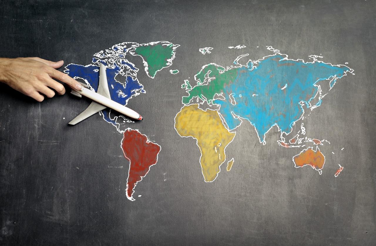 Mapa referencial para nuevas reglas para viajar en avión