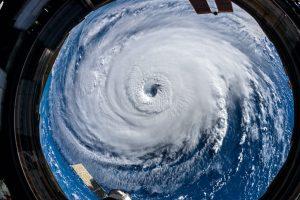 Un ciclón tropical visto desde el espacio