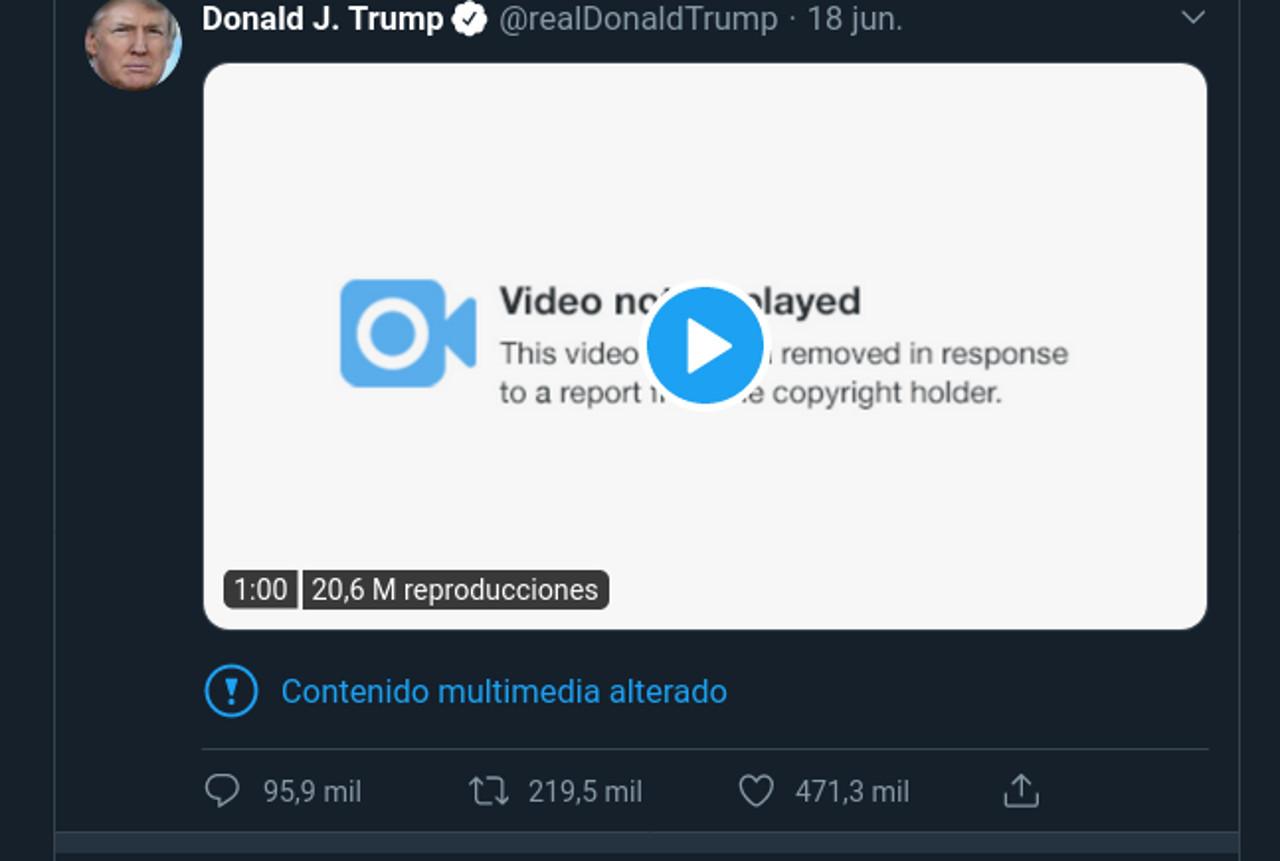 """Twitter aclara por qué """"censuró"""" el video tuiteado por Trump"""