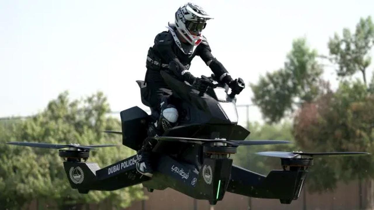 Una moto experimental fue la protagonista del accidente en Dubai