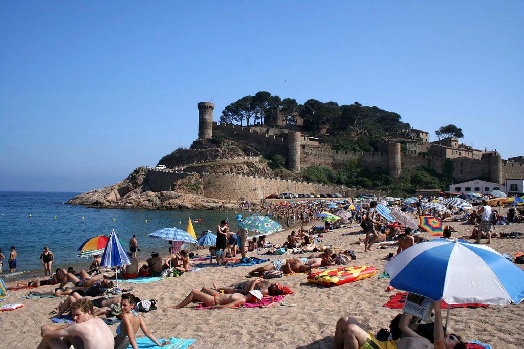 Playa Gran en Tossa de Mar