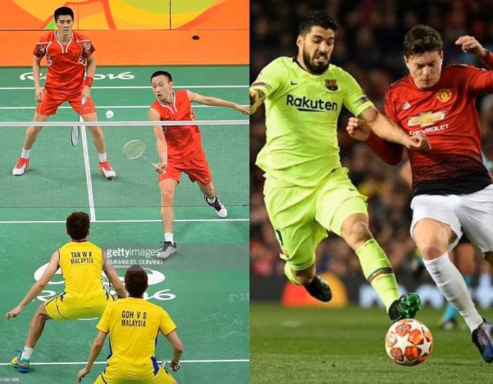 rivalidad entre el Fútbol y el Bádminton 1
