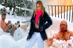 Posar en la nieve