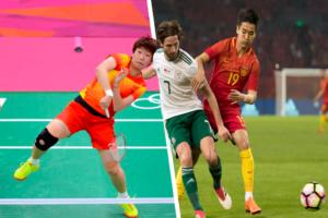 fútbol y el bádminton