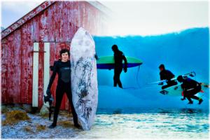 Surf glaciar extremo sobre hielo, no te lo pierdas