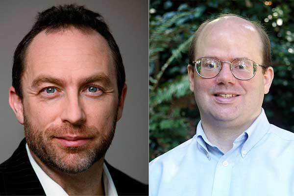 Jimmy Wales y Larry Sanger