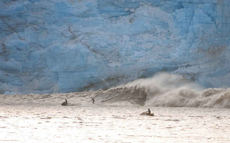 Surf glaciar extremo 2