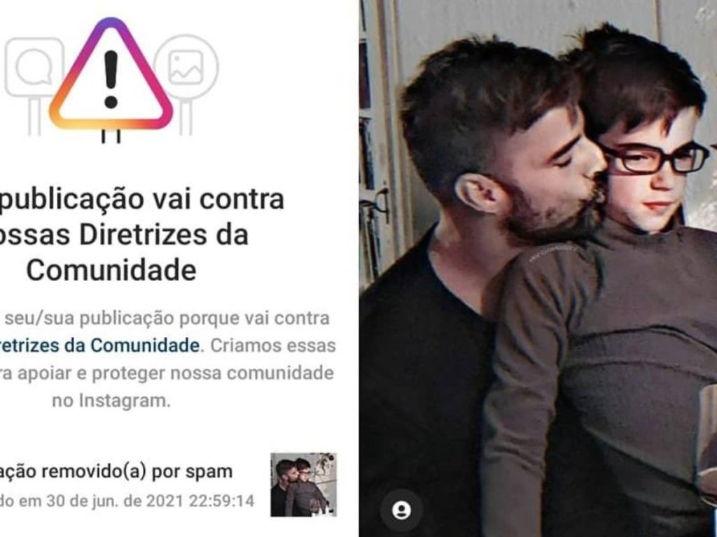 homofobia por parte de Instagram