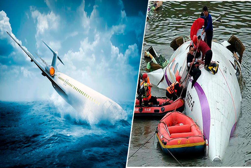 Se estrella avión sobre río de Taiwán y no creerás lo que pasa