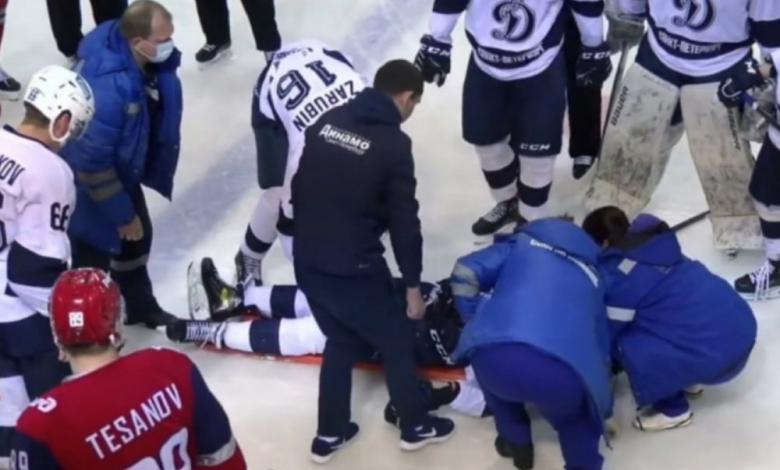 se mutila la lengua durante un partido de hockey